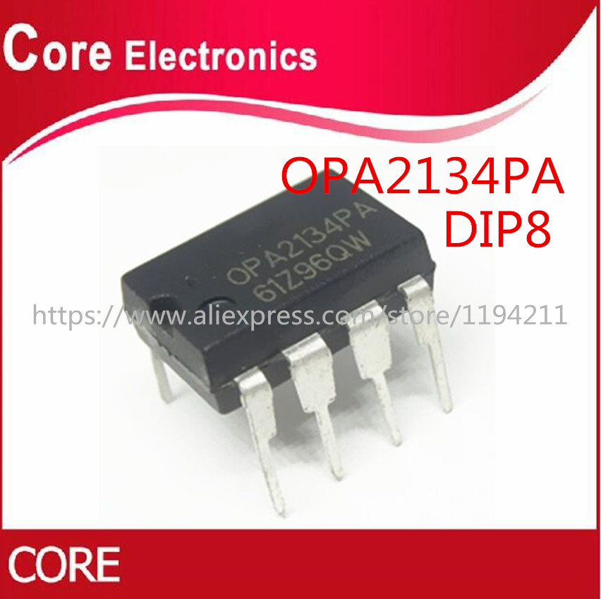 100PCS OPA2134PA DIP8 OPA2134P DIP OPA2134 DIP 8 2134PA High Performance AUDIO OPERATIONAL AMPLIFIERS-in Integrated Circuits from Electronic Components & Supplies