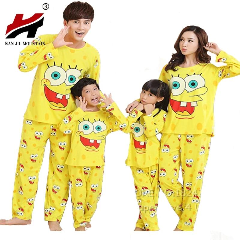Ropa de Dormir Hombre SpongeBob Pijama Hombre Conjunto Camiseta Pantalon