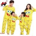 Homens/Mulheres/Meninos/Meninas Spongebob Família Combinando Vestido de Algodão Para a Mãe/Filha/Pai/Filho pijamas/Pijamas/Pijamas/Pijama Conjuntos