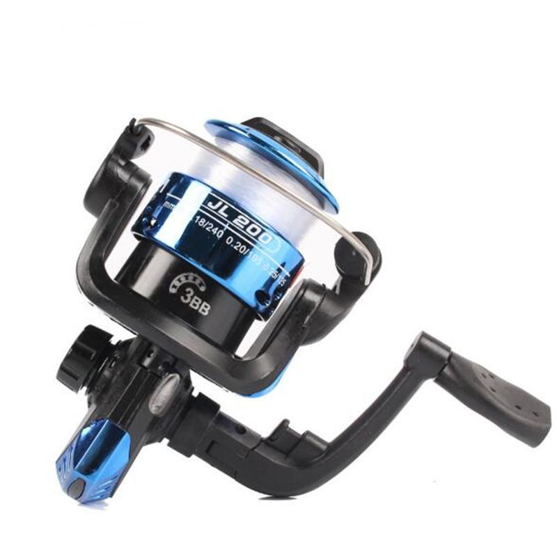 Mounchain 3 axis Fishing Reel Aluminum Body Spinning Reel 5.2:1 Speed Ratio Left/Right Hand Fishing Wheel 40M Fishing Line whee