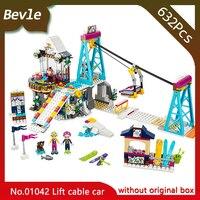 Lepin 01042 632pcs Friends Series Snow Resort Ski Lift Model Building Bricks Blocks Educational Toys For