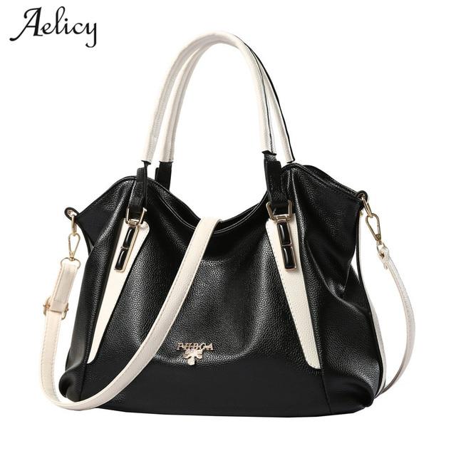 994051746b Aelicy High Quality Leather Women Bag Solid Big Handbag Large Capacity  Top-handle Bags Fashion Fake Designer Handbags