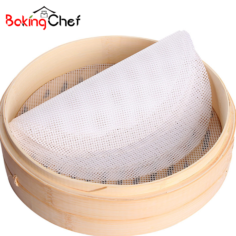 Kitchen,dining & Bar Sincere Bakingchef 5pcs/lot 24cm Silicone Steamer Non-stick Pad Round Dumplings Mat Steamed Buns Baking Pastry Dim Sum Mesh Cooking Case Baking & Pastry Tools