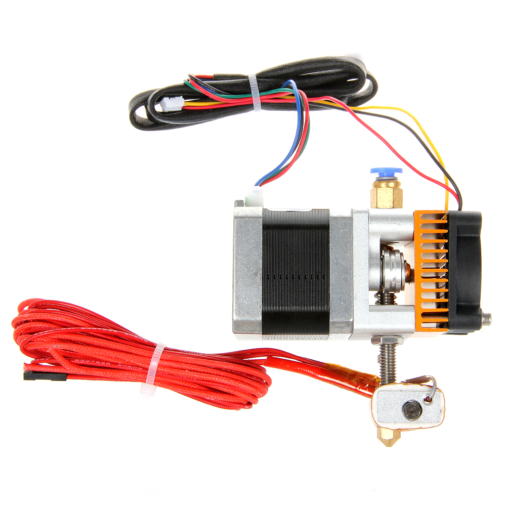 ФОТО Geeetech Newest 0.3mm/0.35mm/0.4mm/0.5mm Nozzle MK8 Extruder Print Head for 3D Printer Reprap Mendel Makerbot 12V Free shipping