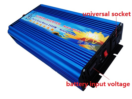 free shipping Peak Power 5000W 2500W Pure Sine Wave Inverter DC 12V 24V 36V 48V TO AC 110V 220V 50HZ 60HZ Power Inverter in Inverters Converters from Home Improvement