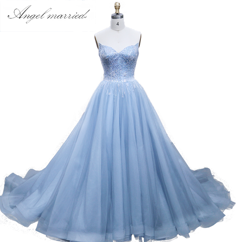 Angel married elegant Evening Dresses sweetheart beading prom gowns ...