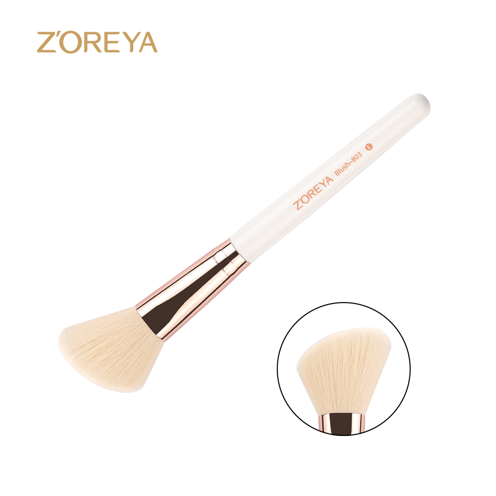 Zoreya marca 2017 nueva llegada oblicua blush brush como herramienta de pinceles