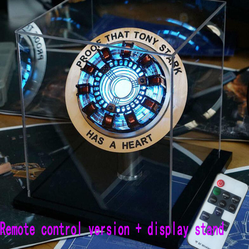 Iron Man Telecontrolled MK1 Reactor LED Tony Stark Heart Light Table Decoration Cosplay Avengers Collection Armor