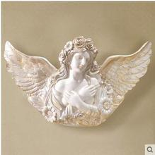 European angel hanging vase wall act the role ofing wall coverings Creative living room porch TV setting wall decoration acces бумажные обои covers wall coverings diamond 18 carbon page 7