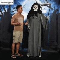 190CM Devil Horror Halloween Ghosts Grim Reaper Ghost Haunted House Escape Creepy Halloween Decorations Halloween Horror Props