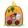 2015 venta al por menor de corea nueva lindo bolso de escuela del cabrito de la felpa muñeca de la historieta animal mochila infantil Mini school for girls envío gratis