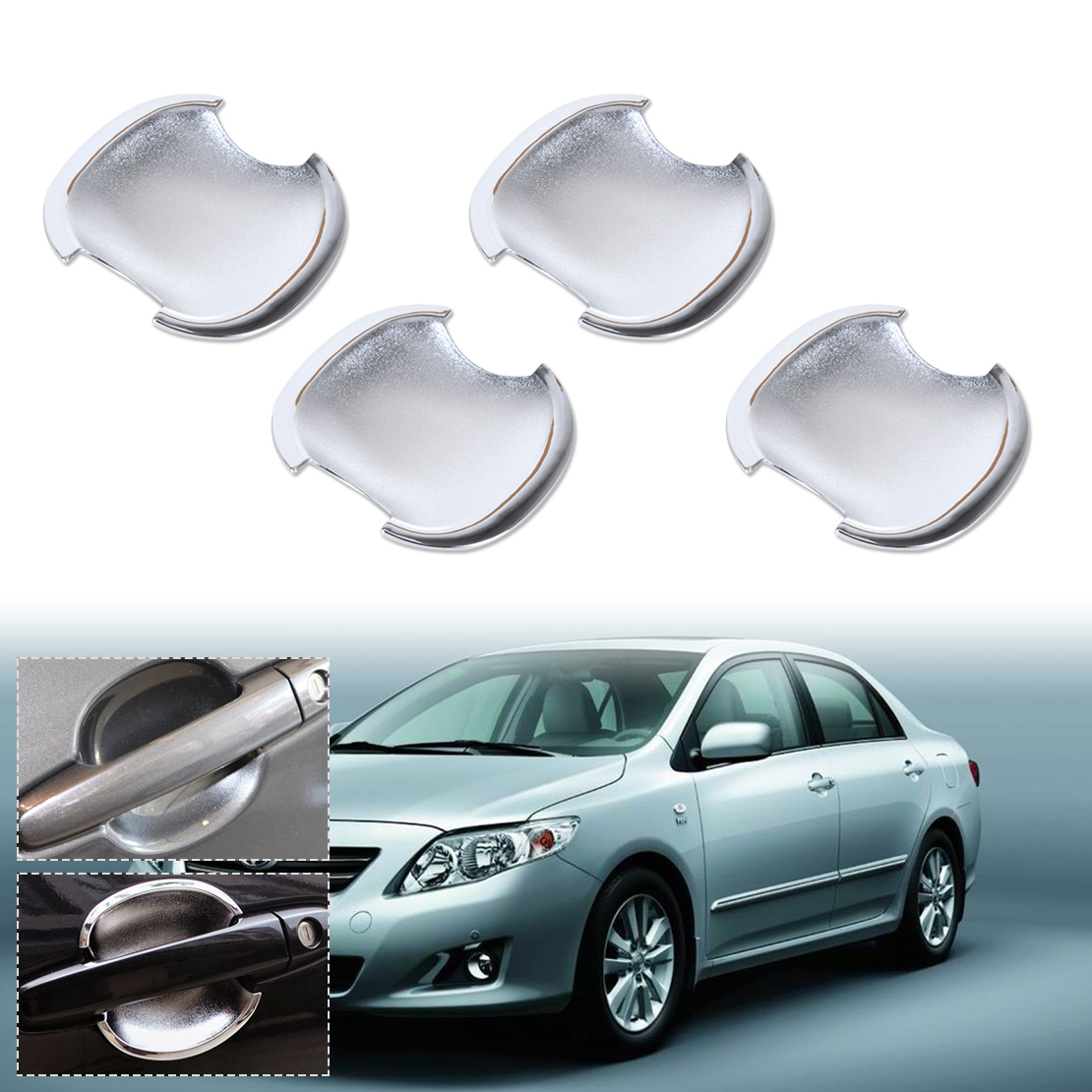 For Toyota Camry 2007 2008 2009 2010 2011 Chrome Door Handle Cup Bowl Cover Trim