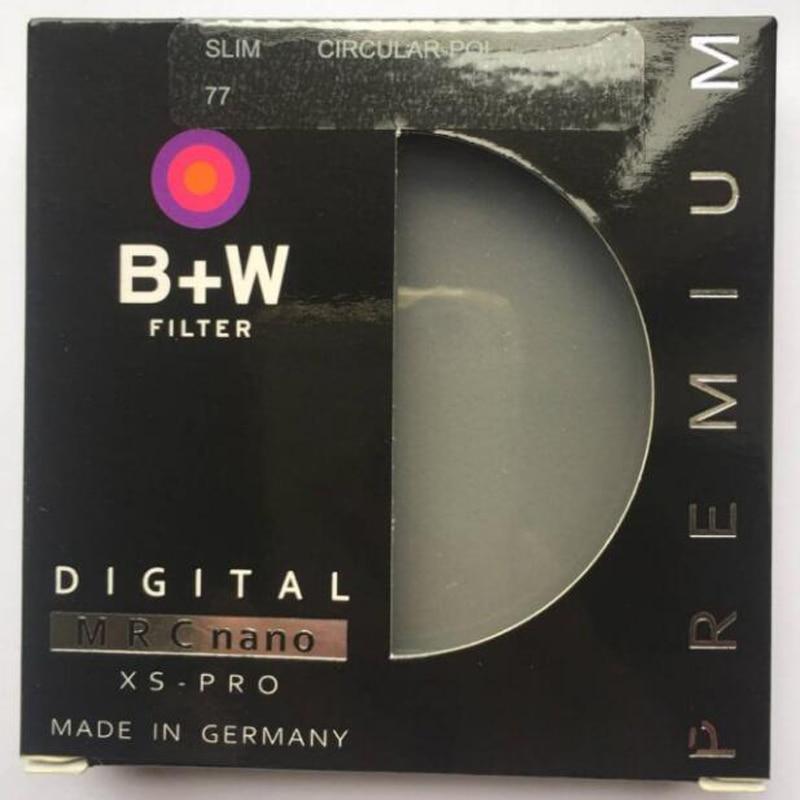 B + W 49mm 52mm 55mm 58mm 62mm 67mm 72mm 77mm 82mm MINCE C-POL MRC Filtre polarisant Professionnel Protecteur D'objectif comme HOYA CPL