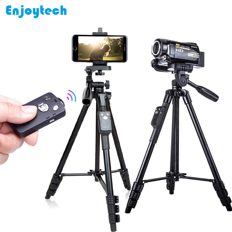 5218 Professional Tripod with Holder Bluetooth Remote for Iphone Samsung Xiaomi Phones Tripod Stand for Nikon/Canon DSLR Cameras цена