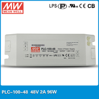Original Meanwell 96W 2A 48V Power Supply PLC 100 48 LED Display Driver with PFC Function with screw terminal stype I/O