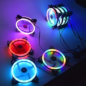 Image 2 - Colorful 120mm fan Computer LED Fan Water Cooler Cooler Fan Case Glare Red Blue Green White Cooler Fans Cooling RGB Case Fan CPU