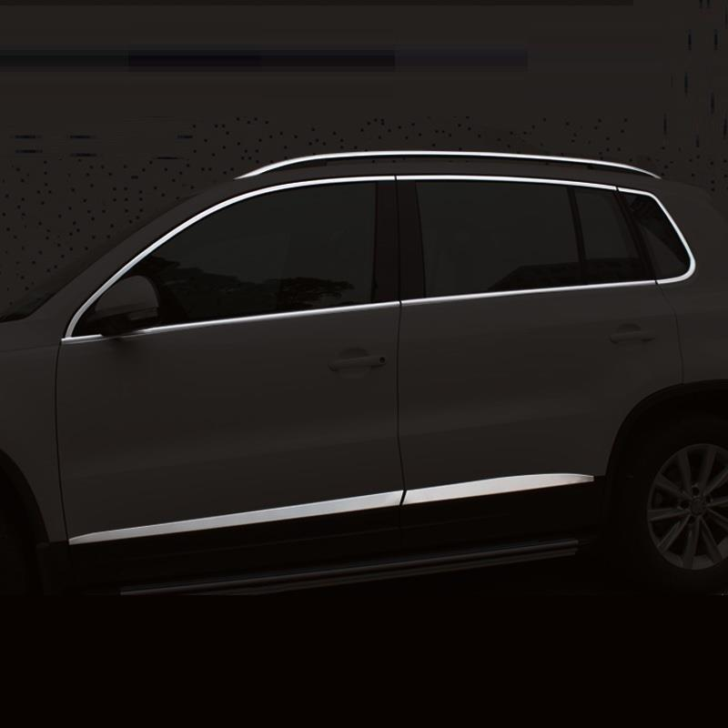 Body Window exterior Excent chromium trim car styling mouldings protecter accessories 13 14 15 16 17 FOR Volkswagen Tiguan