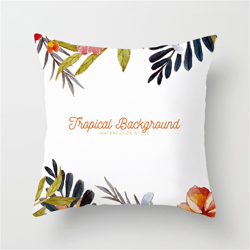 Fuwatacchi Tropical Leaves Flower Printed Cushion Cover Floral Vintage Beer Pillow Cover Decorative Pillowcase for Home Sofa in Cushion Cover from Home Garden