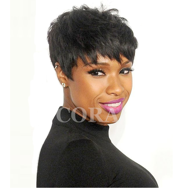 2016 New Pixie Cut Human Natural Hair Wig