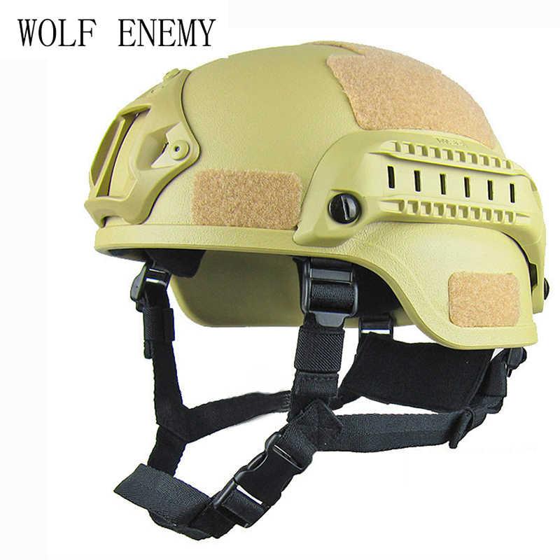 Военный Mich 2000 Тактический шлем страйкбол шестерни Пейнтбол Защита головы с ночным видением Спортивная камера крепление