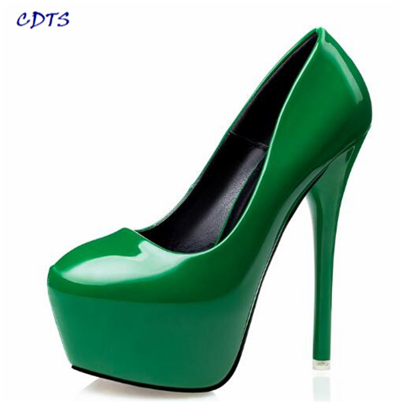 CDTS plus size: 34-38 39 Fashion New style woman 15cm thin heels shoes Ladies CLUB Pointed Toe Wedding Pumps sapato feminino 2017 new fashion spring ladies pointed toe shoes woman flats crystal diamond silver wedding shoes for bridal plus size hot sale