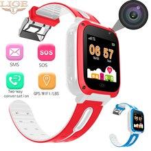 2019 умные Детские умные часы SOS мобильный телефон голосовой чат большой емкости батарея мониторинг сна сим Смарт часы