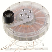 Disc hand cranked direct drive generator model AC and DC Lithium battery charger treasure Human generator 5V1A