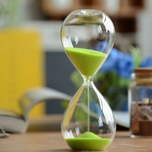 Fashion sand Hourglass 5 minutes Sandglass Time Counter Count Down Timer Glass Clock Creative Gift Home Decor Color Random