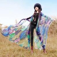 Free Shipping Boshow 2019 New Fashion Long All match Scarf Print Summer And Spring Pashmina Long Chiffon Bohemian Beach Scarf