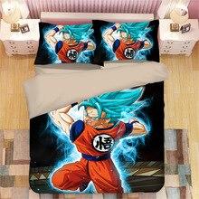 Juego de cama con estampado de dibujos animados en 3D de Dragon Ball, fundas de edredón, funda de edredón Dragon Ball Z vegeta, juegos de cama de edredón Super Saiyan