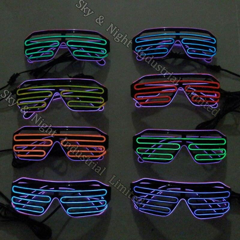 Top quality fashion font b el b font wire font b led b font glasses with