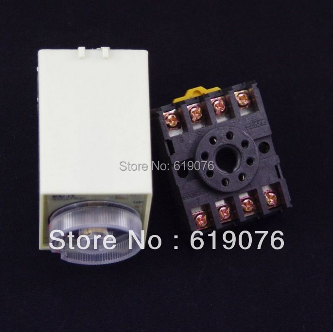 12VDC Power off delay Time-lapse time relay 0-1 second with base  high quality 12vac power off delay time relay 0 3 minutes with base
