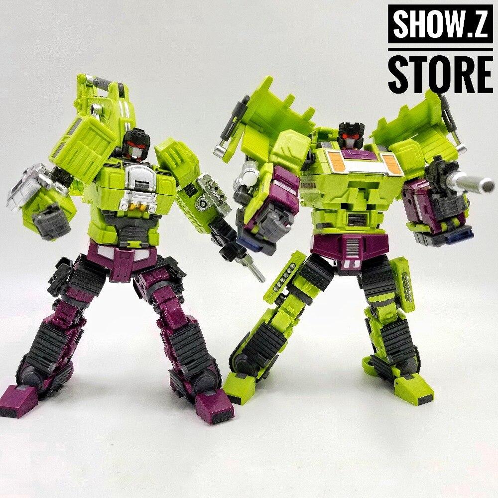 [Show.Z Store] [New in Box/ No Box] Jinbao Oversized Devastator Navvy & Bulldozer Scavenger & Bonecrusher [Set A] цена