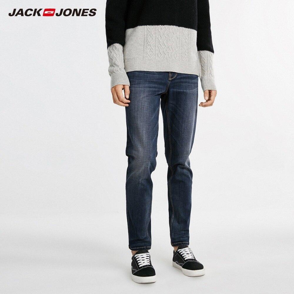 JackJones для мужчин Зимние лайкра-смесь стрейчевый облегающий джинсы бизнес повседневное стрейч тонкий классический брюки, джинсовые штаны | ...