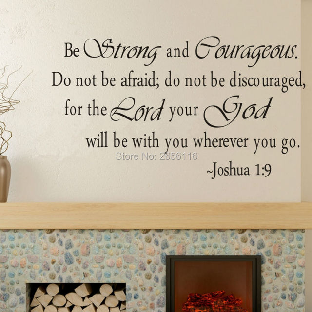 Christian Quotes Vinyl Wall Stickers Inspirational Saying Home Decor Wall  Art Home Decoration For Living Room