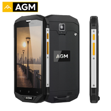 Original AGM A8 EU Smartphone 32G+3G IP68 Waterproof Qualcommn MSM8916 Quad Core Gorilla Glass Android 7.0 Mobile Phones 4050mAh