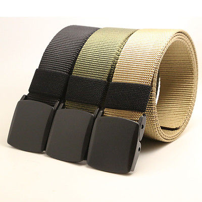 Men/'s Military Web Canvas Buckle Belt Tactical Waistband Waist Straps US G