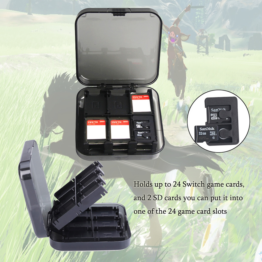 Nintend Switch Accessories 24 in 1 Game Card Case For Nintend Switch Games Accessories Waterprrof Nintend Switch shell