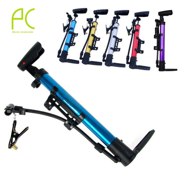PCycling Multi-functional Portable Bicycle Cycling Bike Mini Air Pump Tyre Tire Aluminum Alloy Bicycle High Pressure Pump