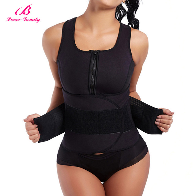 bf07fa96c3a Lover Beauty Slim Shapewear Waist Trainer Neoprene Sauna Vest Plus Size Slimming  Body Shaper Workout Faja