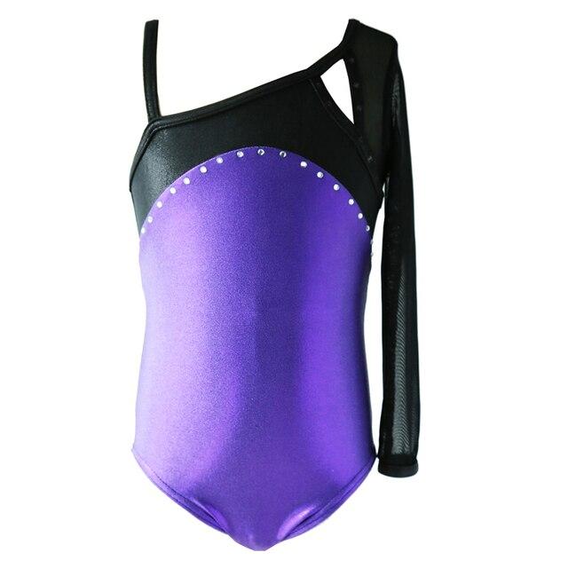 NT15003 Manches Longues avec Strass Justaucorps De Gymnastique pour Fille.  Ballet Danse Justaucorps. Costumes ac826635c03