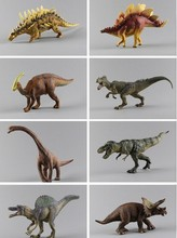 pvc figure Large plastic dinosaur toy model of Tyrannosaurus Allosaurus meandering dragon 8pcs/lot