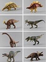 pvc figure Large plastic dinosaur toy model of Tyrannosaurus Allosaurus meandering dragon 8pcs/lot