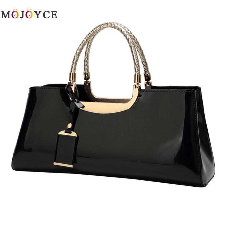 Marque de luxe en cuir verni brillant femmes sac à main Baguette forme haut-poignée sacs sac a main femme de marque luxe cuir