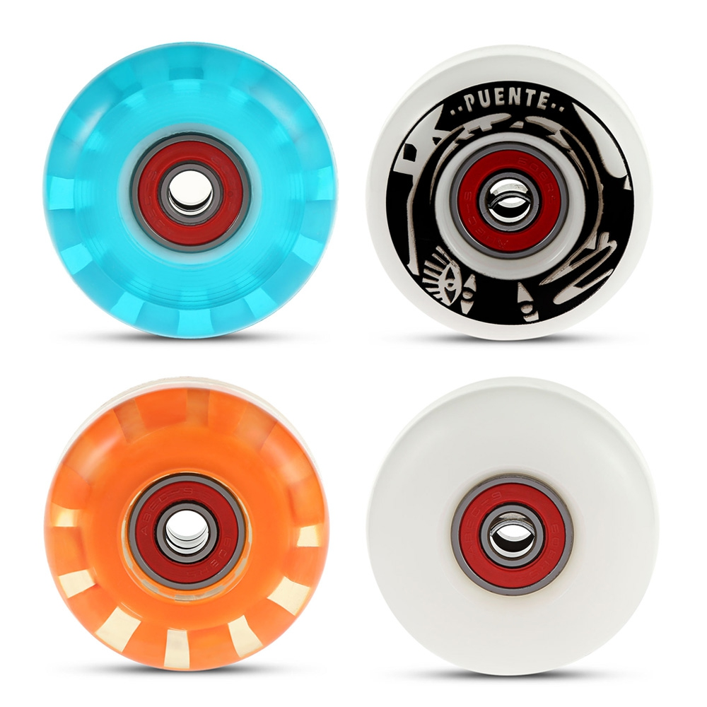 Durable PU Skate Wheels Longboard Cruiser Wheels For Ollie Punk And Jumping 4pcs/set Skateboard Wheels