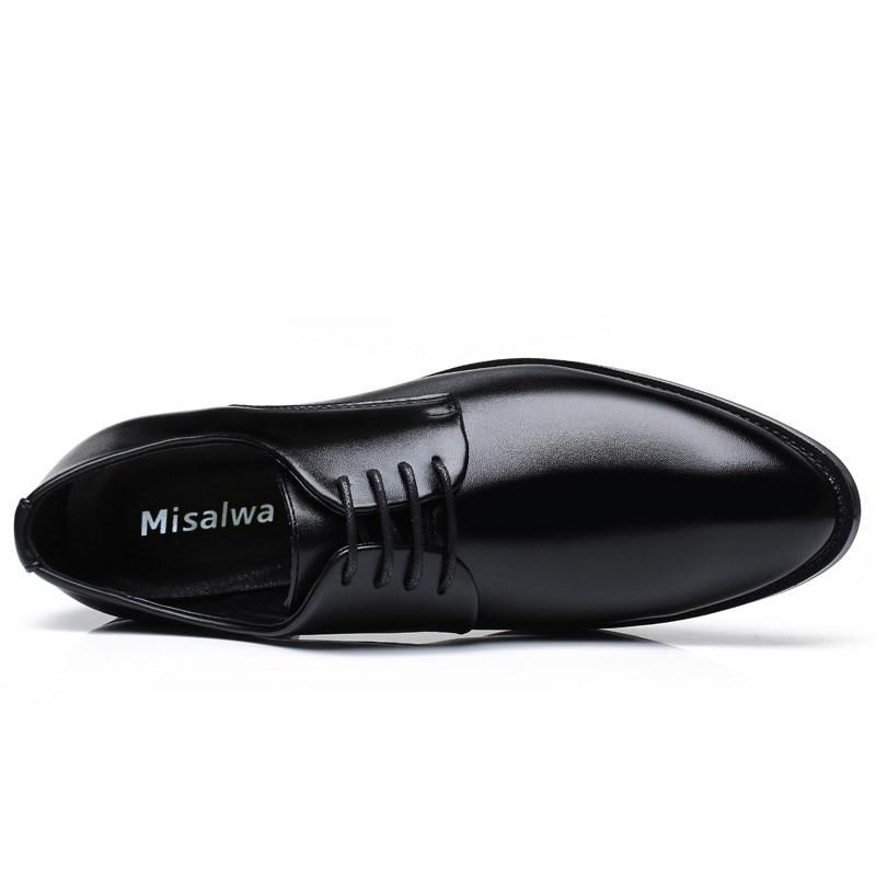 Oxford Derby Dentelle Robe Up Formelle D'affaires Portable Hommes Misalwa Classique Zapatos Chaussures Black brown De En Léger Cuir Respirant qApSHW8