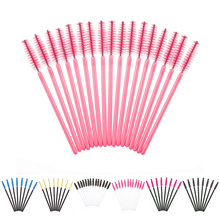 50PCS pack Disposable Eyelash Brush font b Mascara b font Wands Applicator Wand Brushes Eyelash Comb