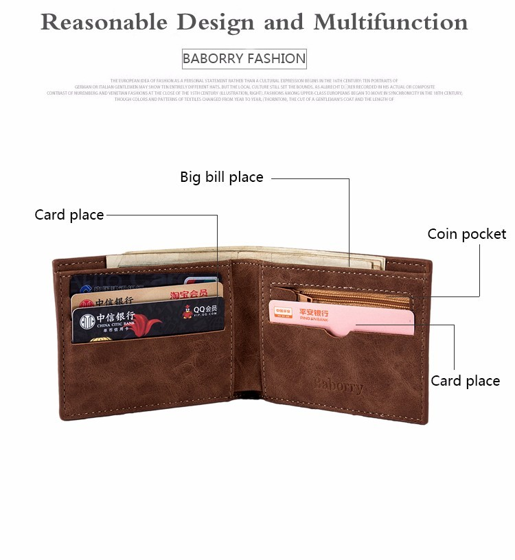 Coin Bag zipper 17 New men wallets mens wallet small money purses Wallets New Design Dollar Price Top slim Men Wallet For Male 7