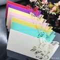 100 шт./компл. Hollow Butterfly Свадебные Приглашения Лазерная Имя Таблицы Карты Бизнес День Рождения Свадебные Украшения Поставки