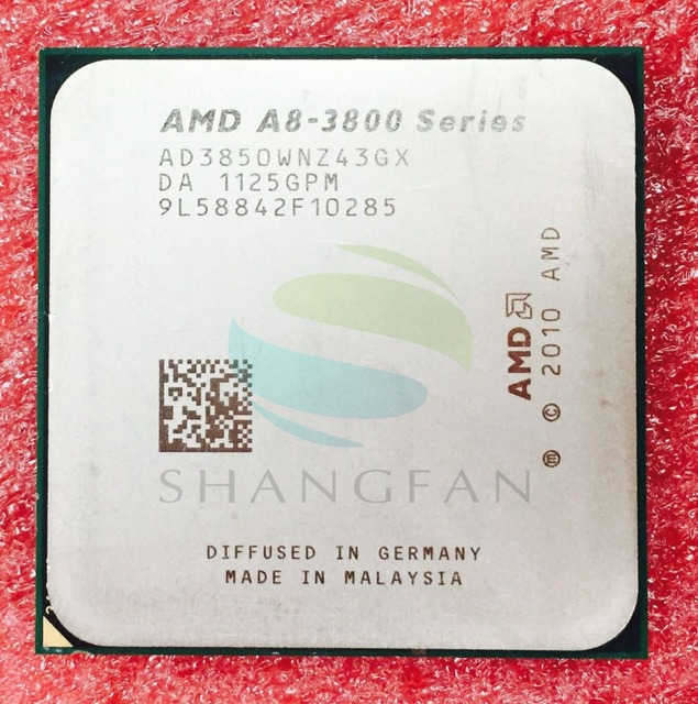 shipping for A8 3850 A8-3850 2.9GHz 100W Quad-Core CPU Processor AD3850WNZ43GX A8 3850K Socket FM1/ 905pin